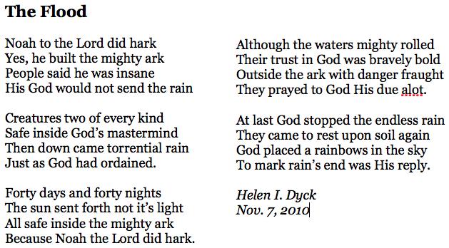 Helens poem